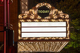Marquee Lights at Broadway Theater Exterior