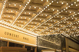 Marquee Lights at Broadway Theater Entrance