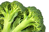 Closeup inflorescence of fresh broccoli