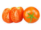 Tomatoes, whole and sliced