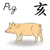 Eastern Zodiac Sign Pig