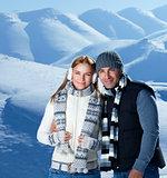 Happy couple on winter holidays