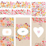 Floral summer templates.