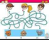 maze puzzle task for children