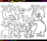safari animals coloring book