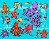 sea life group cartoon
