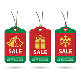 vector christmas sale tags flat design