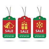 vector christmas sale tags flat design
