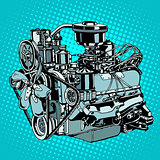 Retro engine motor