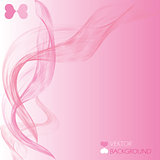 Abstract pink swoosh wave