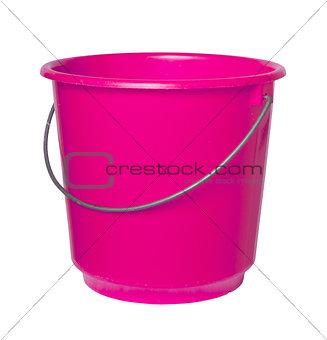 Single pink bucket isolated