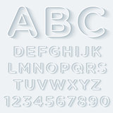 3D Outline With Shadow Alphabet Set