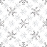 Seamless silvery christmas pattern