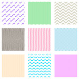 Seamless wavy line patterns