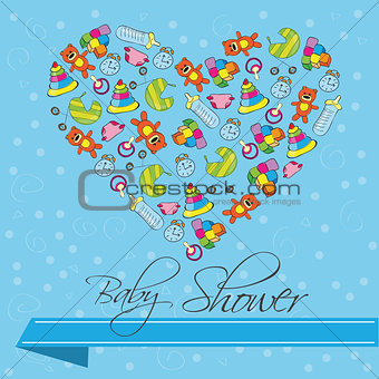 Baby Shower Invitation Card in Vector