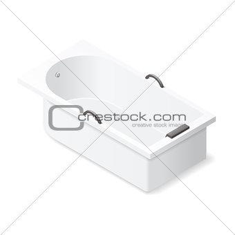 Bath isometric icon