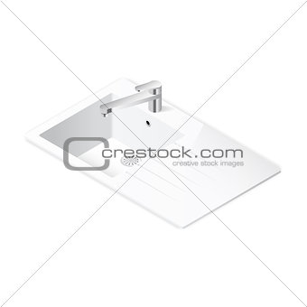 Kitchen sink isometric icon