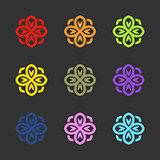 Flower logo. Vector sign emblem