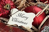 Merry Christmas Tag and Christmas Ornaments