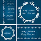 Vector  Christmas Card Templates