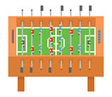 Table soccer pixel art vector illustration. kicker, bar football