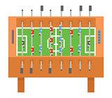Table soccer pixel art vector illustration. kicker, bar football