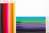Colorful wooden pencils isolated
