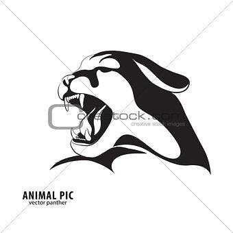 Black leopard silhouette
