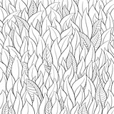 Outline leaf background