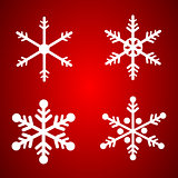 Vector snowflakes set for Christmas design.