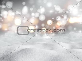 3D snowy scene