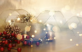 Retro Christmas decorations background