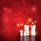 Christmas gift box background