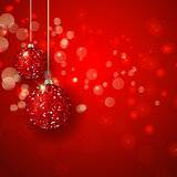 Christmas glittery baubles background