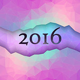New Year greeting card made in polygonal style