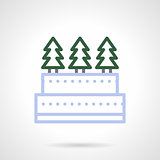Christmas sweets simple color line vector icon