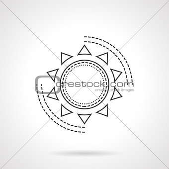 Flat line abstract sun vector icon