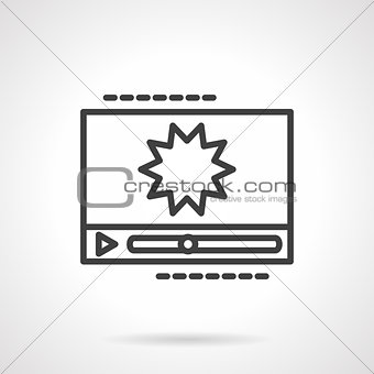 Black line vector icon for video effects