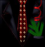black festive suit