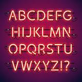 Glowing Neon Bar Alphabet