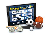 concept of online sport bets