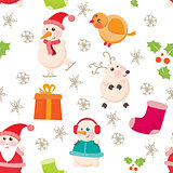 Cheerful, Beautiful festive seamless pattern