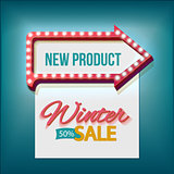 Volume retro arrow with Winter sale