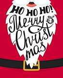 Ho-ho-ho Merry Christmas greeting card template design