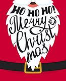 Ho-ho-ho Merry Christmas greeting card template design