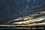 Sunset on the Varese lake