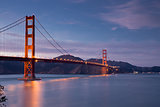 Golden-Gate Bridge at Dusk, San Francisco, California