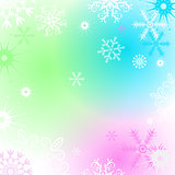 Colorful Christmas frame with snowflakes