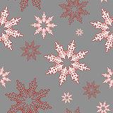 Snowflakes. Seamless christmas pattern.