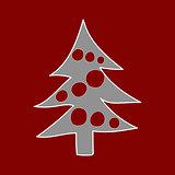 Christmas tree. Winter pattern.